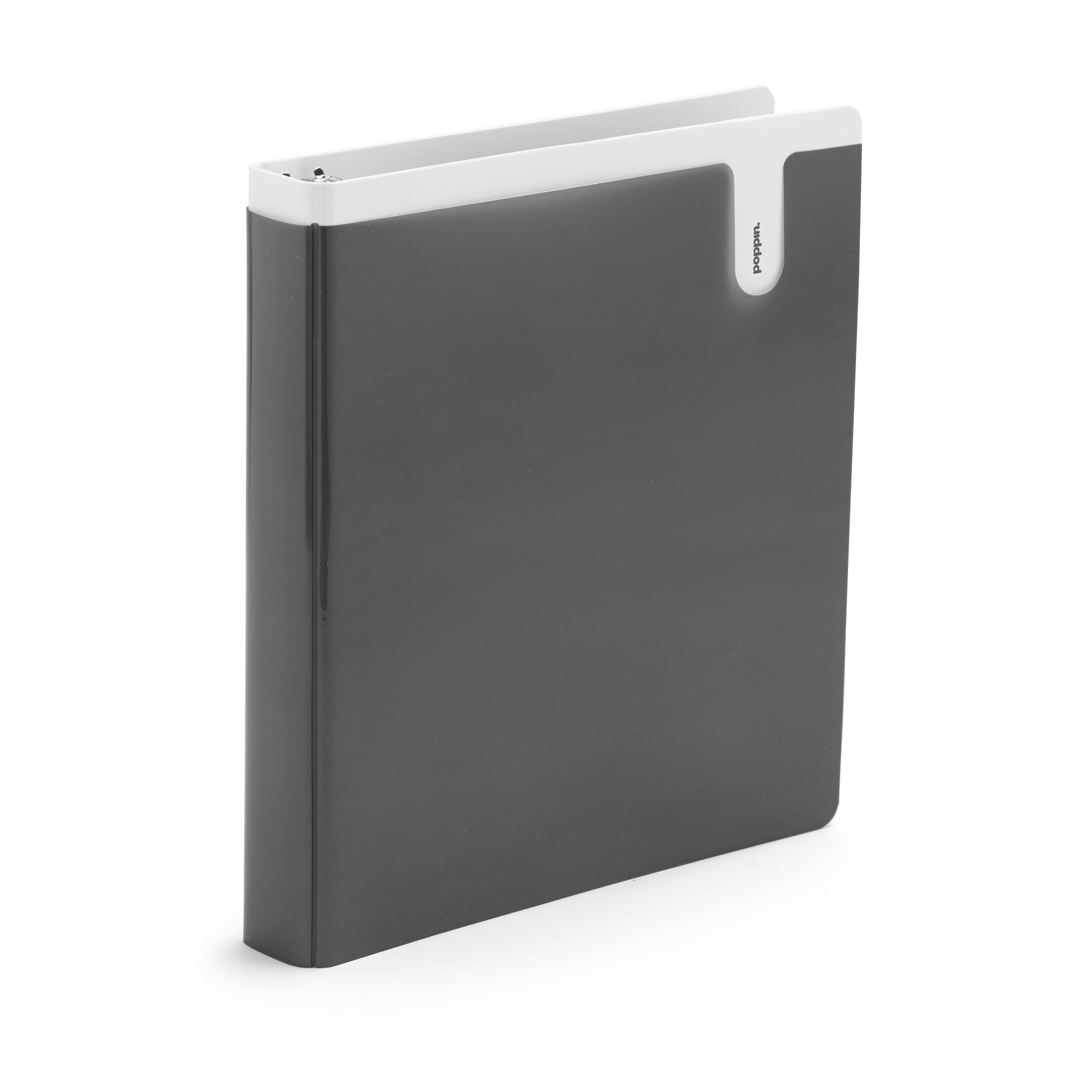 Poppin Dark Gray 1 Pocket Binder
