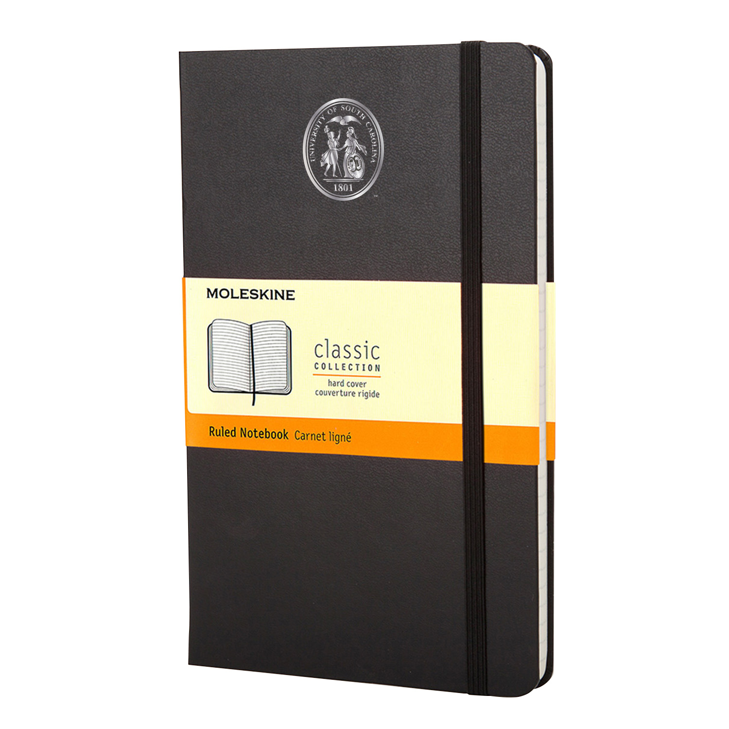 Moleskine Large Notebook With Foil Stamped Seal Ruled