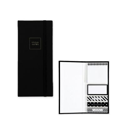 Pierre Belvedere Fashion Black And White Post-it Note Kit