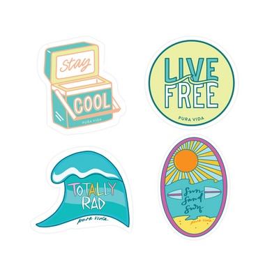 Surfer Girl Stickers - 4 Pack