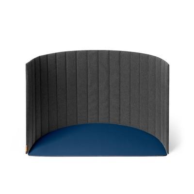 Poppin Portable Space Divider, Dark Gray