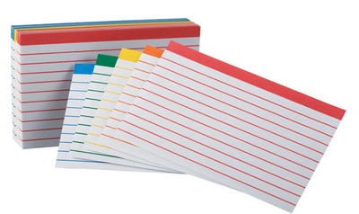 Oxford Color Coded Ruled Index Cards 3 X 5 Assorted Colors 100 Per Pack
