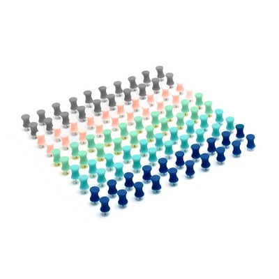 Poppin Modern Assorted Push Pins Set of 100