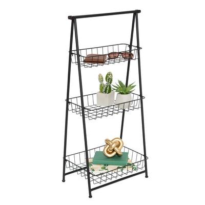 3-Tier Folding Ladder Shelf