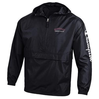 Sandhills Community College Champion Half-Zip Packable Jacket