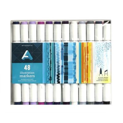 Art Alternatives  Illustration Marker, 48-Marker Set