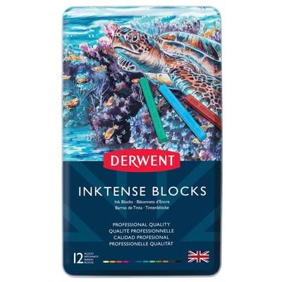 Derwent Inktense Block 12-Color Tin Set