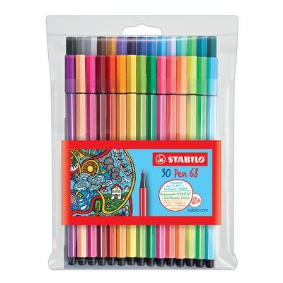 STABILO Pen 68 Wallet, 30-Color Set