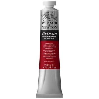 Winsor & Newton Artisan Water Mixable Oil Colours, 200ml Tube, Permanent Alizarin Crimson