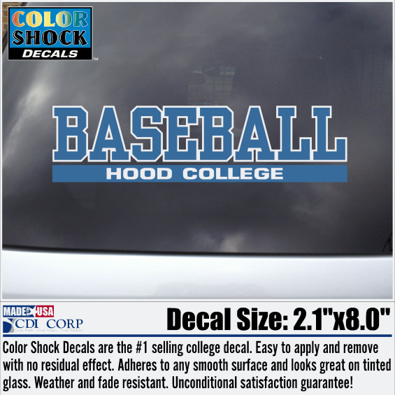 Hood College Official Bookstore Color Shock Auto Decal