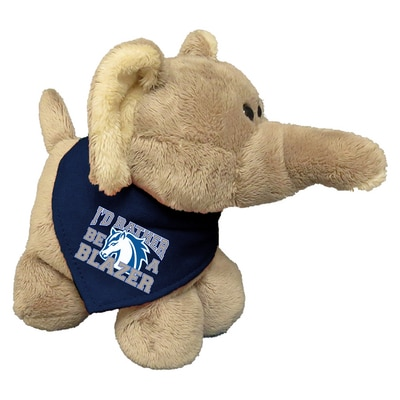 Hood College Official Bookstore 6in Plush Elephant Short Stack with Bandana