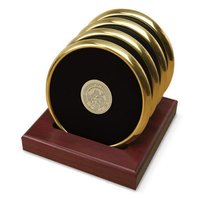 Hood College Official Bookstore Set of 4 Coasters - Gold