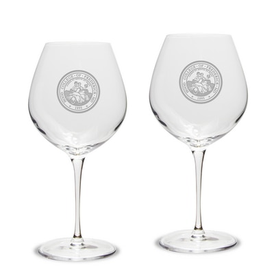 Hood College Official Bookstore Wine Gl 2pk