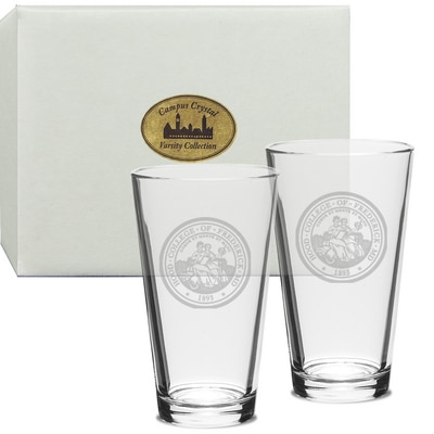 Hood College Official Bookstore Set of 2 Pint Glass
