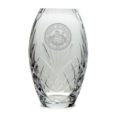 Hood College Official Bookstore Crystal Vase