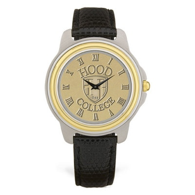 Hood College Official Bookstore Men's Leather Watch