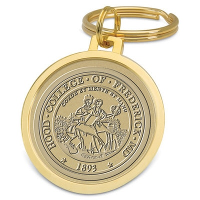 Hood College Official Bookstore Gold Split-wire Key Ring