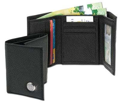 Hood College Official Bookstore Men's Leather Wallet