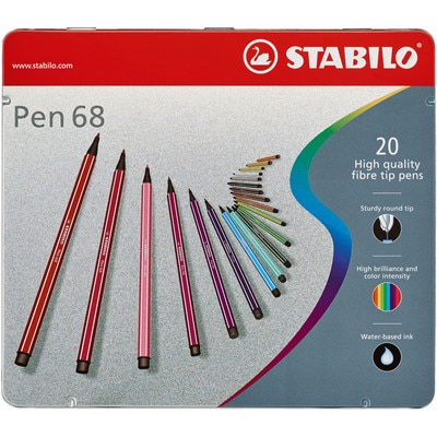 STABILO PEN 68 METAL TIN OF 20