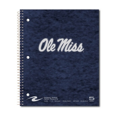 """5 subject 11"""" x 9"""" Imprinted Notebook 180 sheets"""