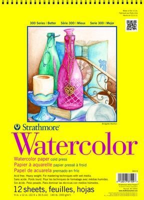 Strathmore Spiral Bound Watercolor Paper Pad 300 Series (18 x 24)