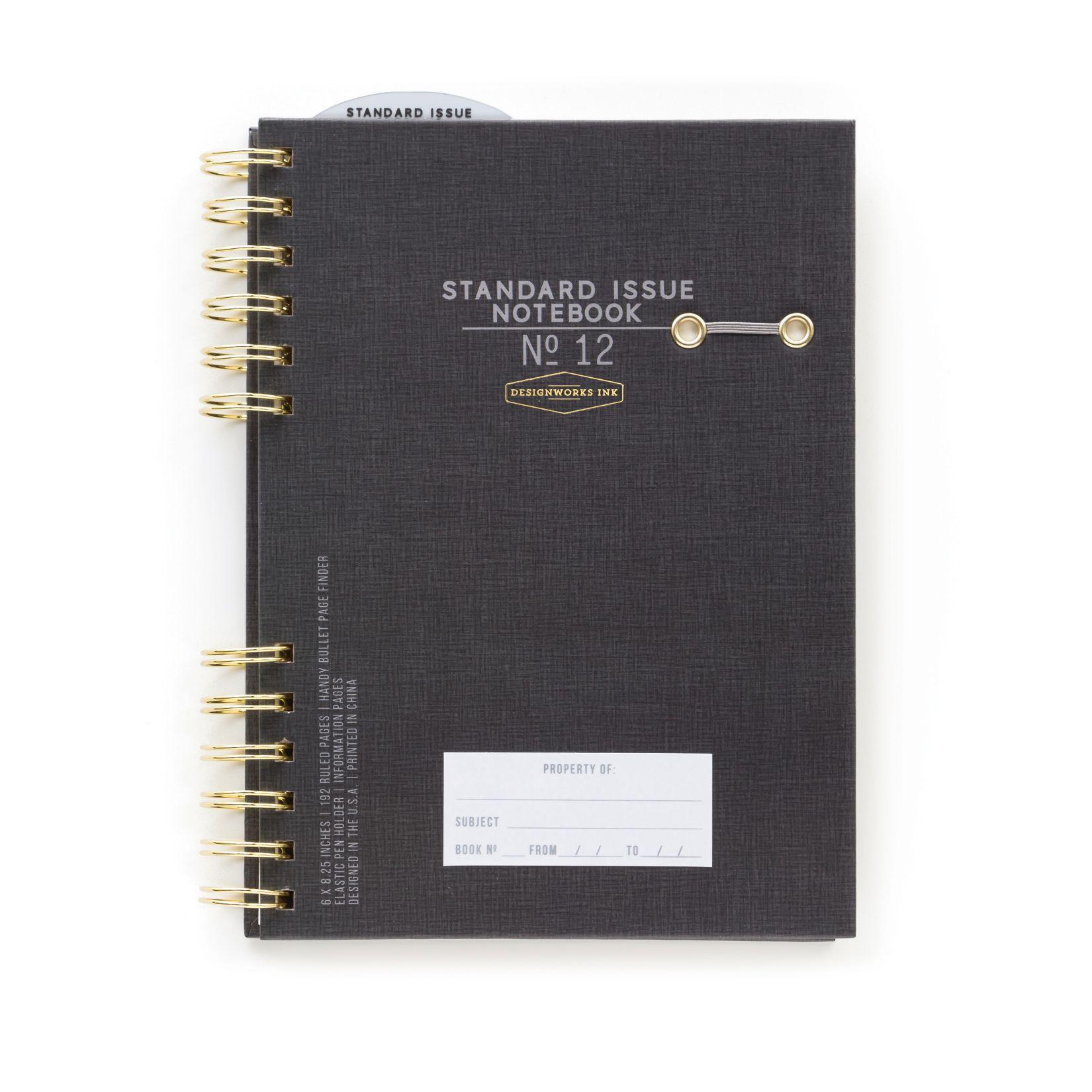 DNR Standard Issue #12 Black Spiral Journal (6 x 8):Black