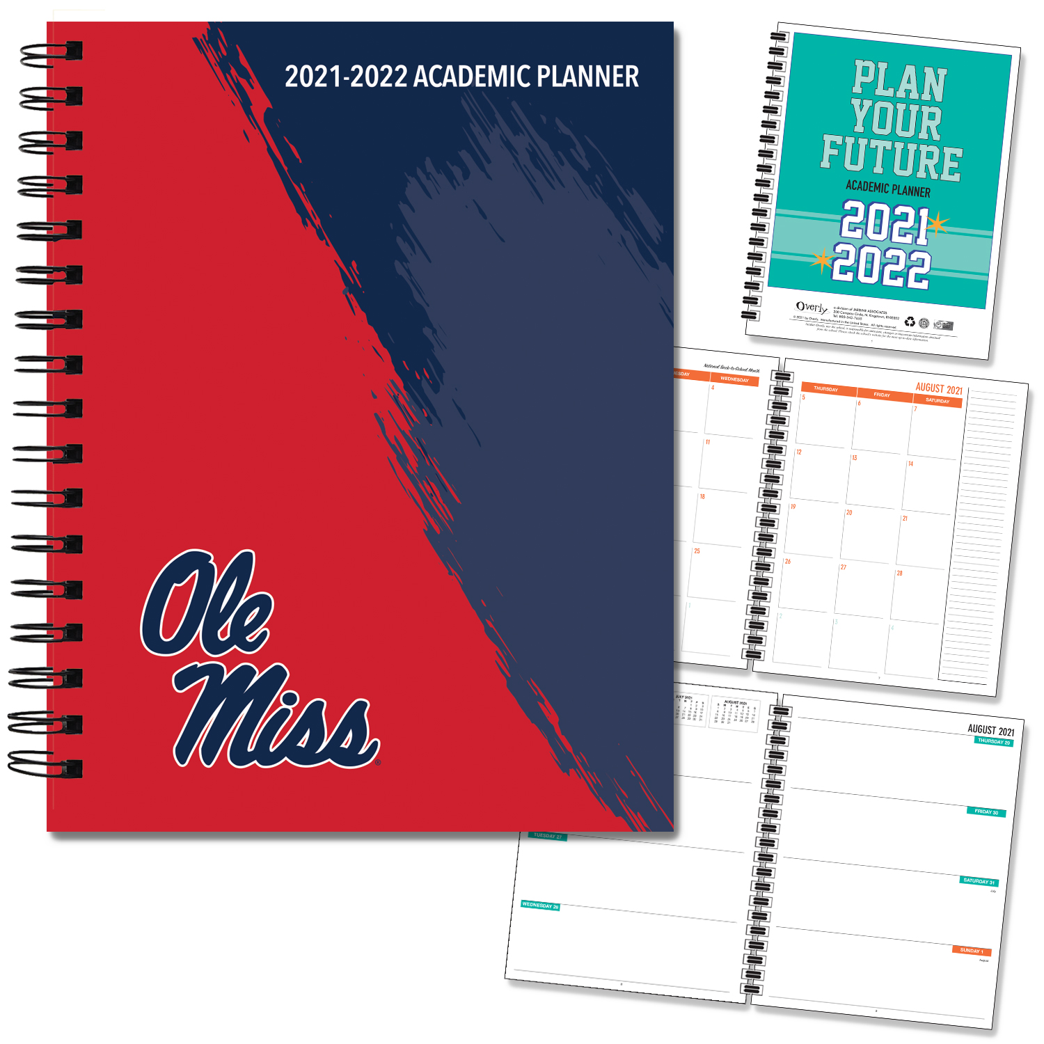 Ole Miss 20-21 7x9 Hard Cover Planner