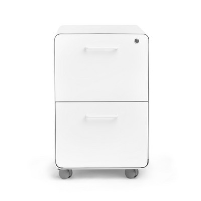 White Stow 2-Drawer File Cabinet