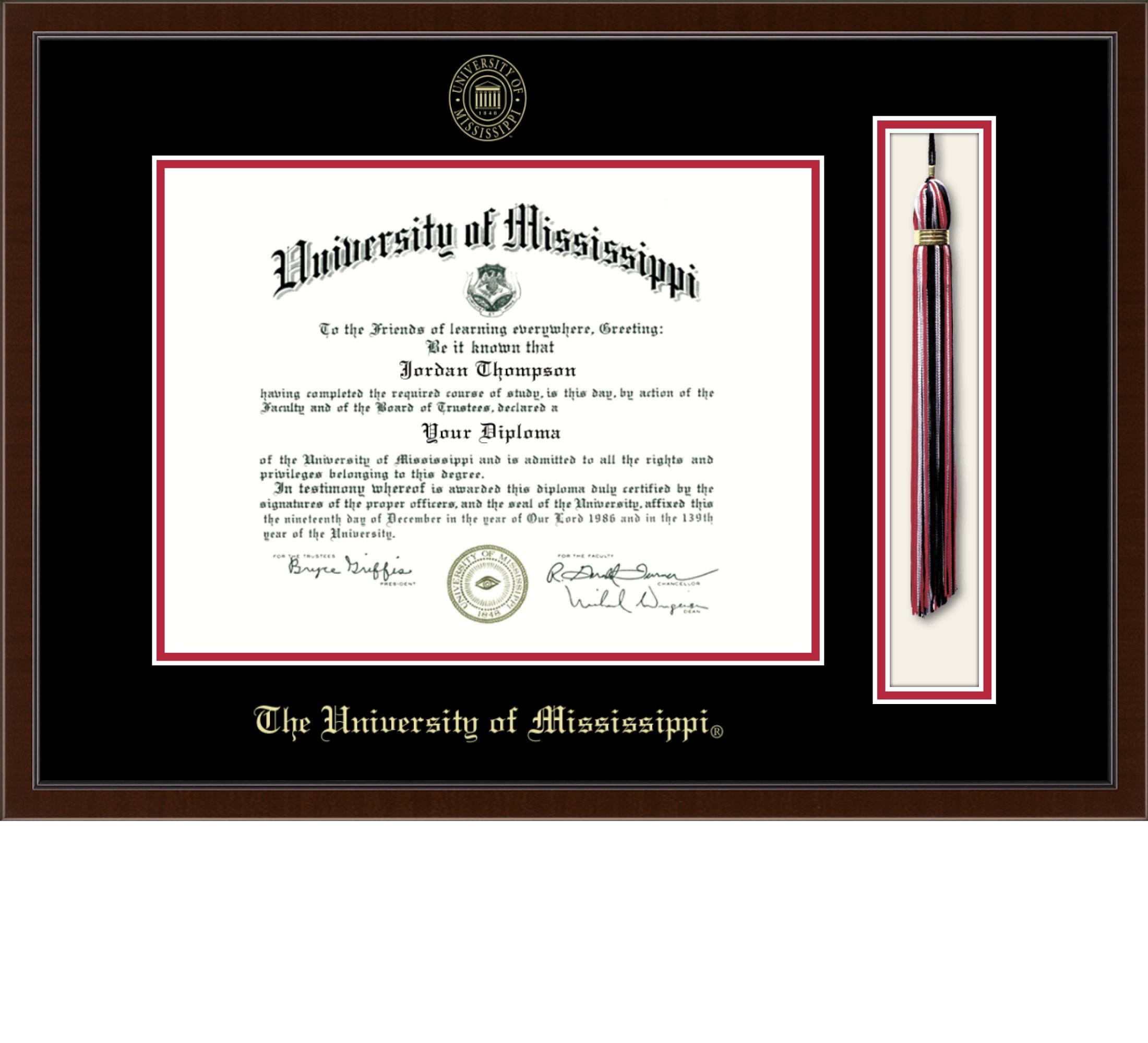 """Church Hill Classics 9"""" x 12"""" Tassel Walnut Diploma Frame"""
