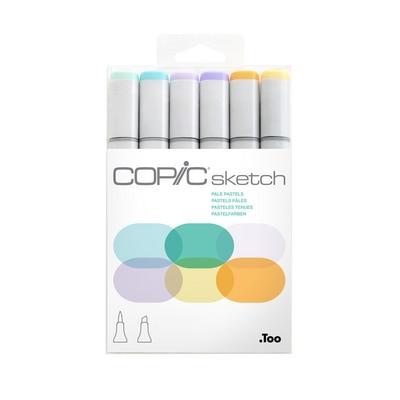 Copic(R) Sketch Marker Set, Pale Pastels