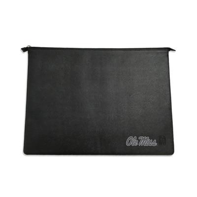Black Leather Laptop Sleeve Alumni V2  14