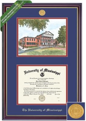 Framing Success 8.5 x 11 Windsor Gold Medallion Bachelors, Masters, PhD Diploma/Litho Frame