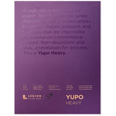 Legion Paper Yupo Heavy Watercolor Pad, 10 Sheets, 9in x 12in