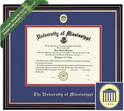 Framing Success 8.5 x 11 Prestige Gold Embossed School Seal Bachelors, Masters, PhD Diploma Frame