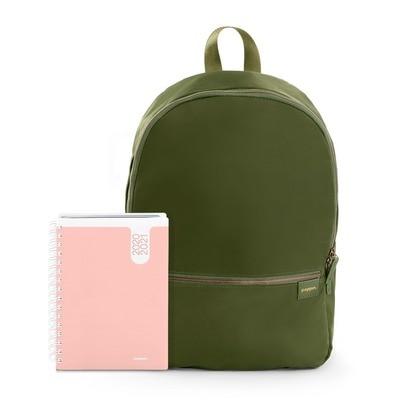 Planner & Backpack Blush & Olive
