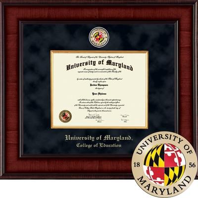 "Church Hill Classics 13"" x 17"" Presidential Mahogany College of Education Diploma Frame"
