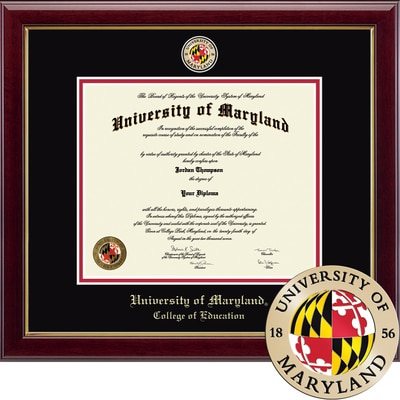 """Church Hill Classics 13"""" x 17"""" Masterpiece Cherry College of Education Diploma Frame"""