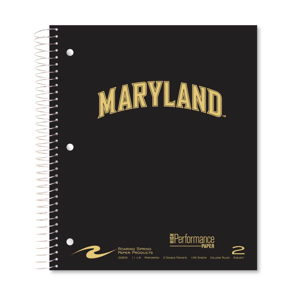 Roaring Premium 2 Subject Notebook 8.5x11 College Ruled 20lb Paper Pressboard Foil Cover