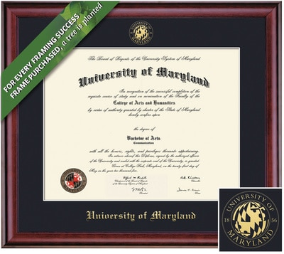 Framing Success 13 x 17 Classic Gold Embossed School Seal Bachelors, Masters Diploma Frame