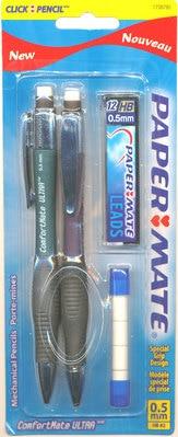 Paper Mate ComfortMate Ultra Starter Set Mechanical Pencil 0.5 mm 2Pack