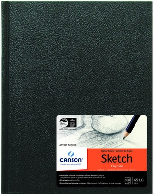 """Canson Artist Series Harbound Sketch Book, 108 Sheets, 8.5"""" x 11"""""""
