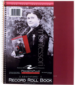 """Teacher's Record and Roll Spiral Book, 11"""" x 8.5"""" 44 Sheets, Assorted Colors"""