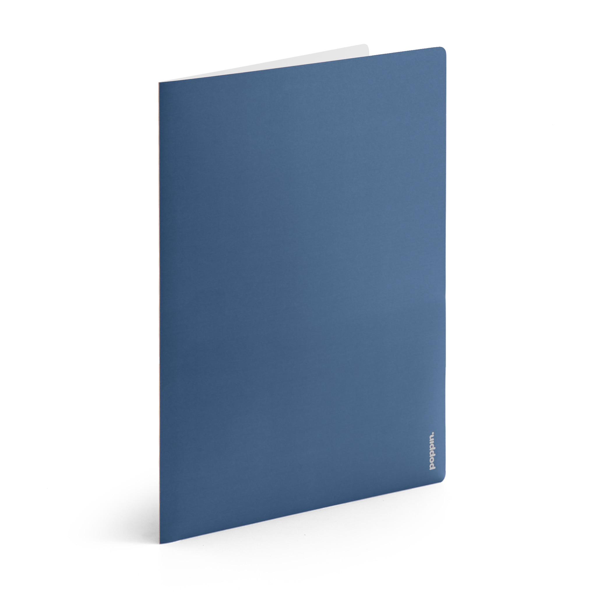 Poppin Slate  Light Gray 2Pocket Poly Folder
