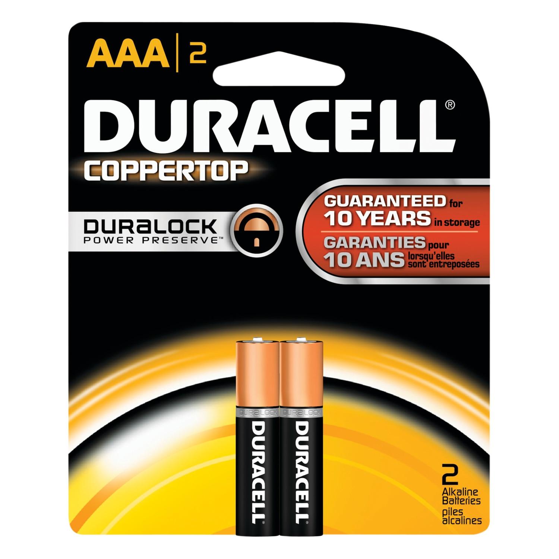 2Pk AAA Copper Batteries
