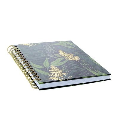 Ltd Journal Gold Grdn 6x8 Black With Lined Pages