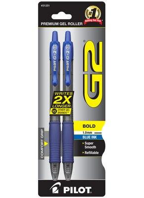 G2 PEN GEL BLUE BOLD 2pk