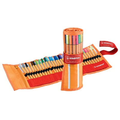 STABILO Point 88 Pen, 30-Color Roller Set