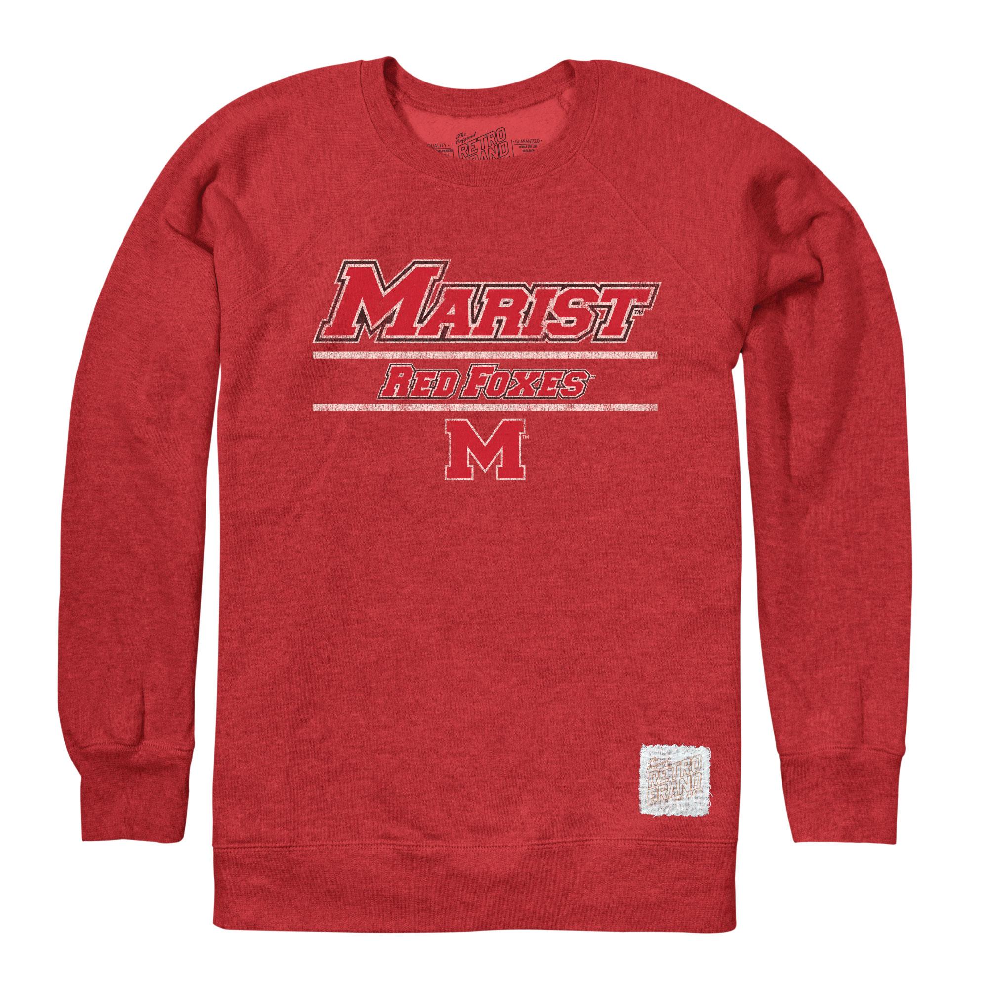 Marist College Retro Brand Heather Fleece Crew