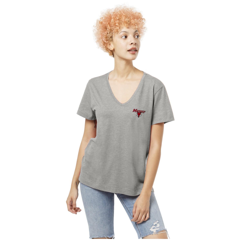 Marist College Short Sleeve V Neck T Shirt