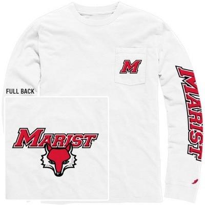League Vintage Washed Long Sleeve Pocket T Shirt